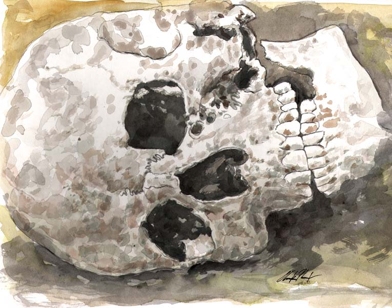 Ancestor At Rest - Canvas Giclee