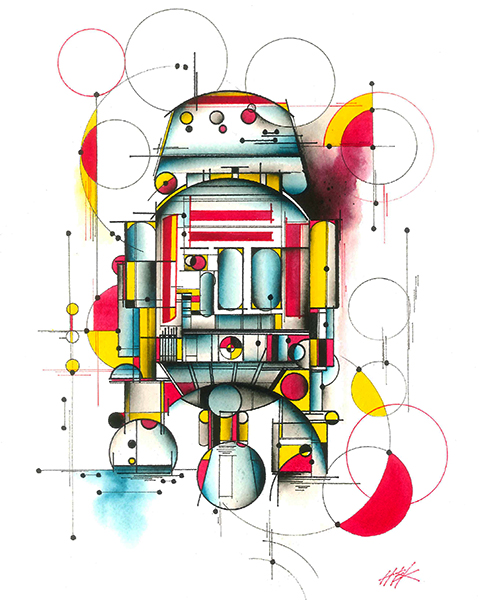 ASTRO DROID - CANVAS GICLEE