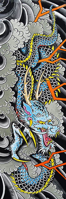 Clark's Blue Dragon - Canvas Giclee