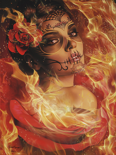 Burning Desire - Canvas Giclee