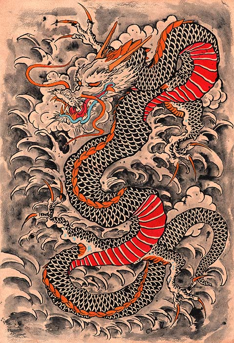 Clark's Red Dragon - Canvas Giclee