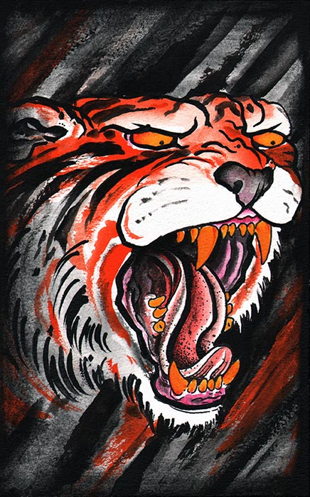 Clark's Tiger - Canvas Giclee