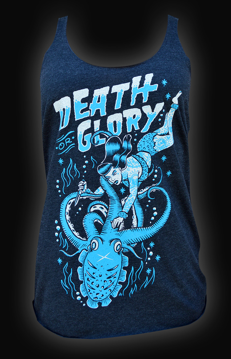 Womens Death or Glory Unfinished Racer Back Tank