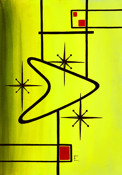 Lime Satellite - Canvas Giclee