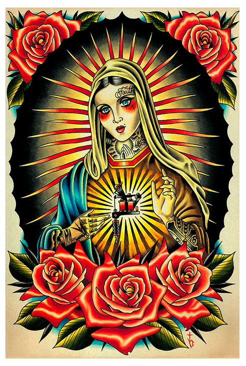 Faith Mary Art Print