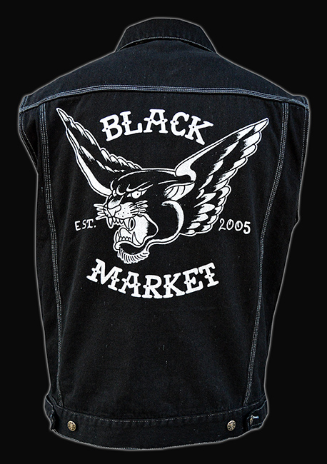 Mens Flying Panther - Denim Vest