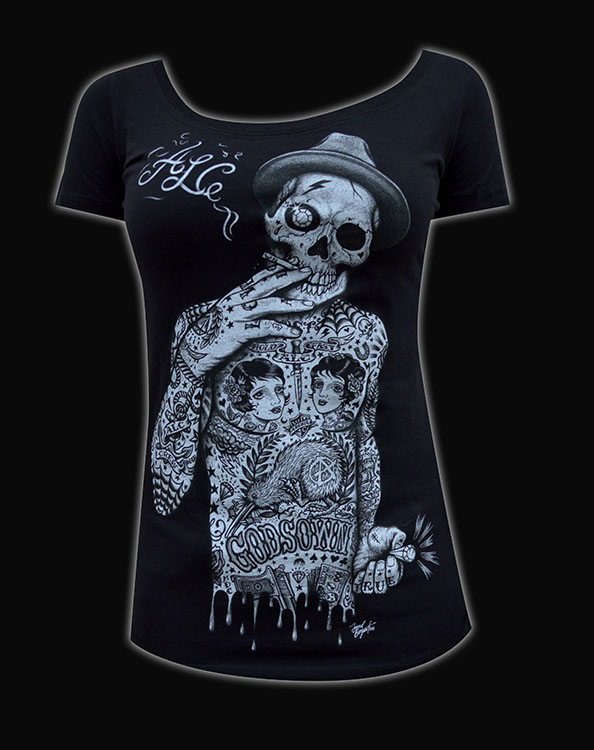 Womens Geezer Scoop Neck Tee