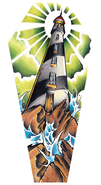 Light House - Canvas Coffin Giclee