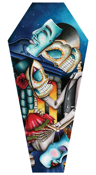 Masquerade - Canvas Coffin Giclee