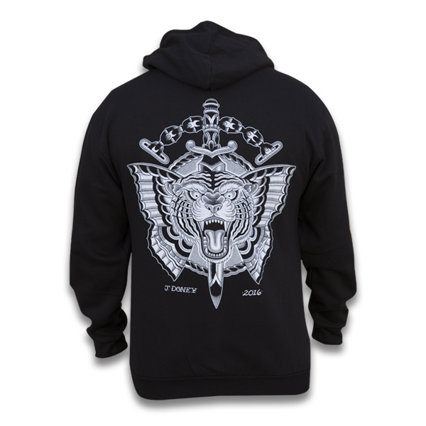 Mens Flying Tiger - Zip Hoodie