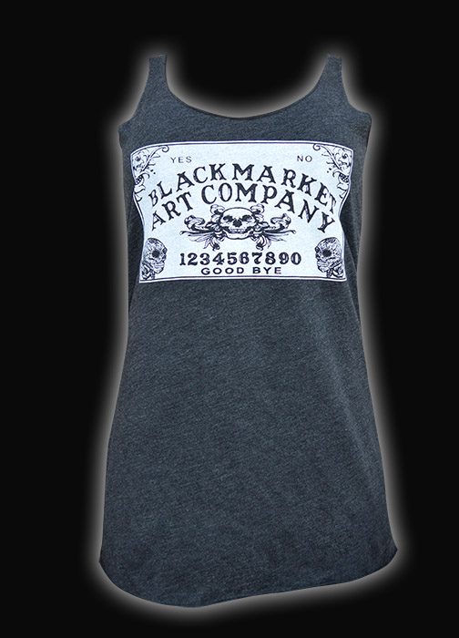 Womens Ouija Board Unfinished Racer Back Tank