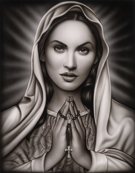 Praying Mary Art Print