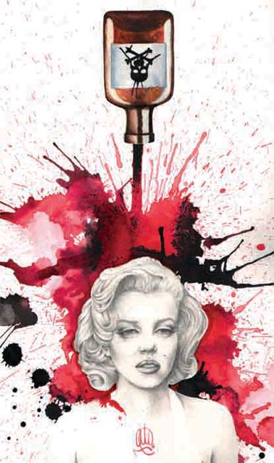 Poisoned Marilyn Art Print