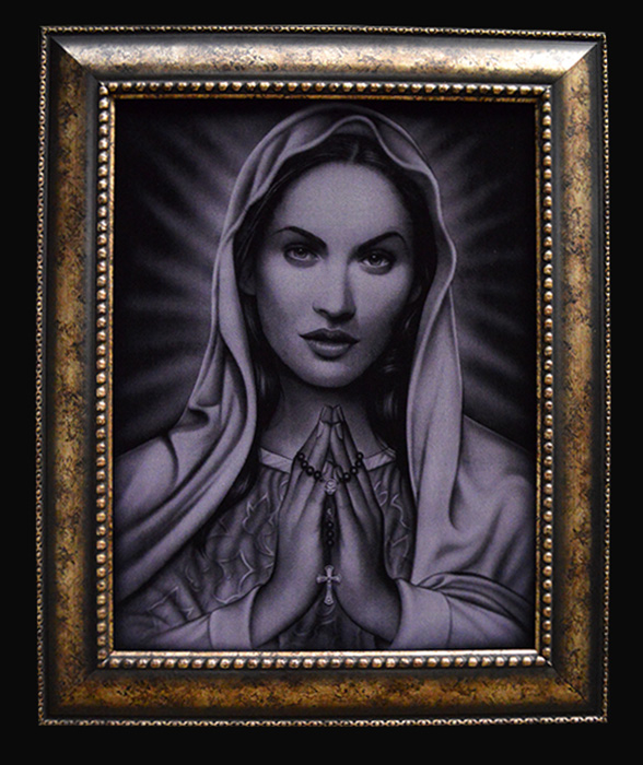 Praying Mary - Velvet Print Framed