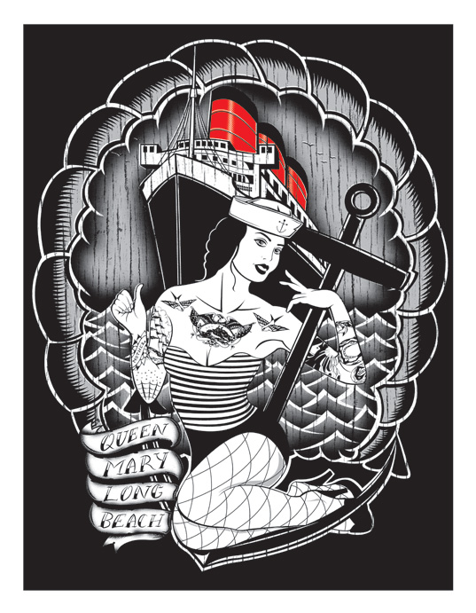 Queen Mary - Silkscreen Print