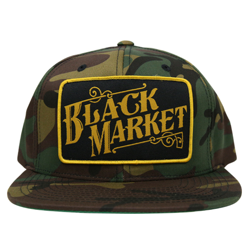 Black Market Snap Back Camo Hat