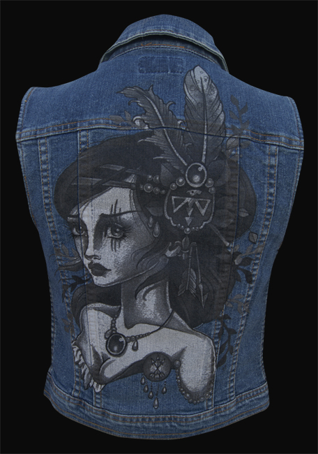 Womens Wind - Denim Vest