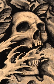 Screaming Skull - Canvas Giclee