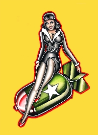 Bomber Girl - Canvas Giclee