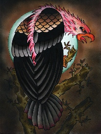 Bowling Pin Eagle - Canvas Giclee
