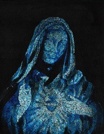 Blue Mary - Canvas Giclee