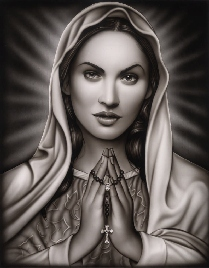 Praying Mary - Canvas Giclee