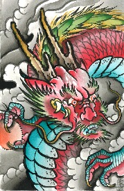 Rising Red Dragon - Canvas Giclee