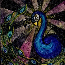 Brittany\'s Peacock - Canvas Giclee