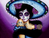 The Blue Sombrero - Canvas Giclee