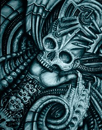 Alien Bio - Canvas Giclee