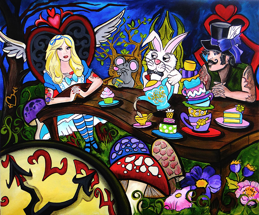 Alice's Tea Party - Canvas Giclee