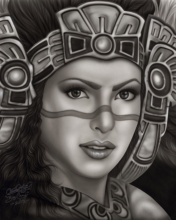 Aztec Princess - Canvas Giclee