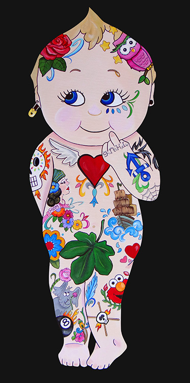 Bad Baby Tatts - Canvas Giclee