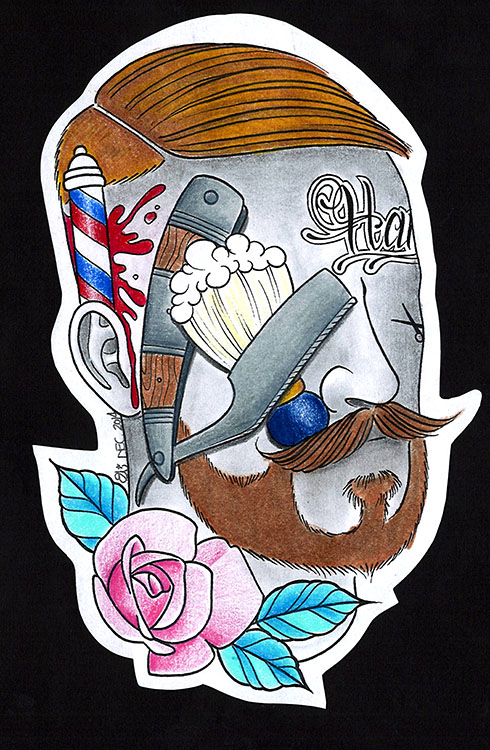 Barber: Cut Throat Industry - Canvas Giclee