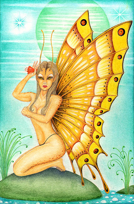 Butterfly Alien - Canvas Giclee