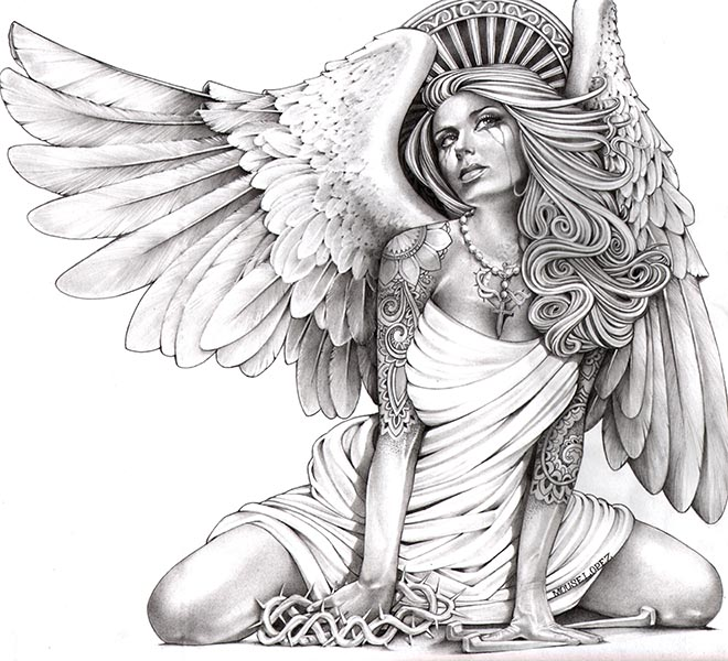 Crying Angel - Canvas Giclee