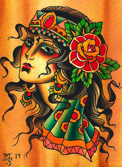 Gypsy Girl - Canvas Giclee