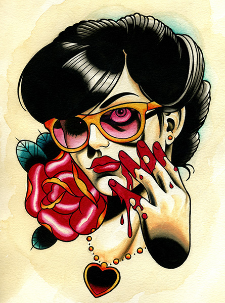 Rose Bloodyhand - Canvas Giclee