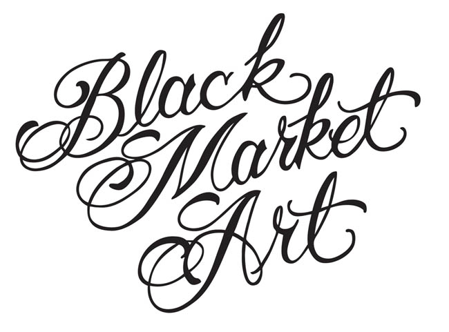 Black Market Art - Black Logo Vinyl Sticker