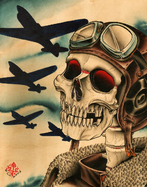 Pilot - Canvas Giclee - Click Image to Close
