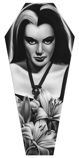 Lily Munster - Canvas Coffin Giclee