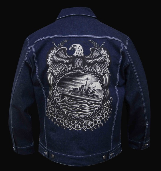 Mens Battleship Denim Jacket