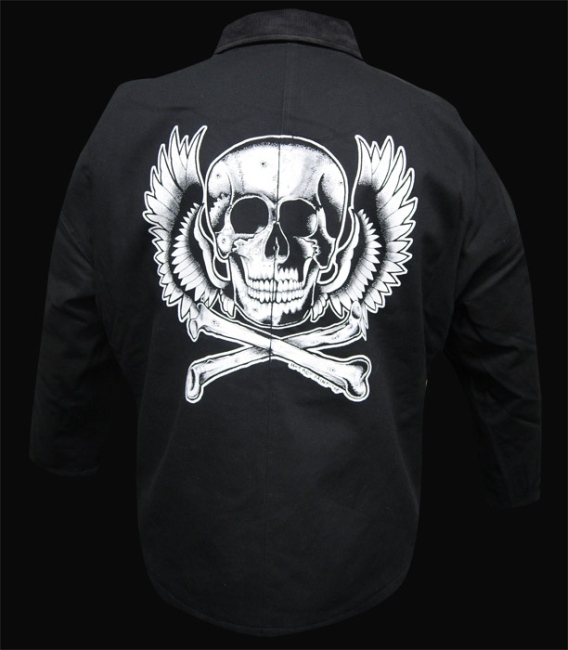 Mens Calavera Flight Blanket Lined Jacket