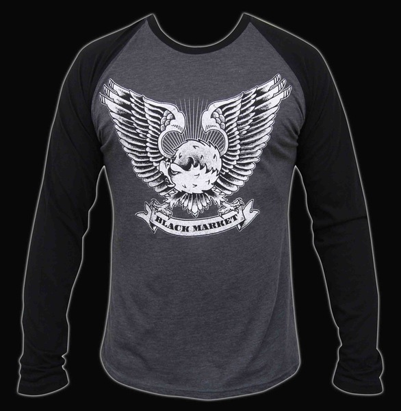 Mens Mighty Eagle Long Sleeve Raglan