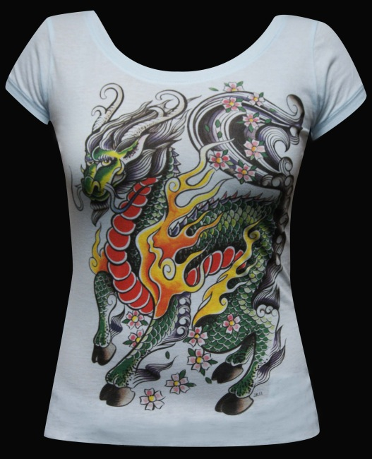 Womens My Little Dragon Scoop Neck Tee