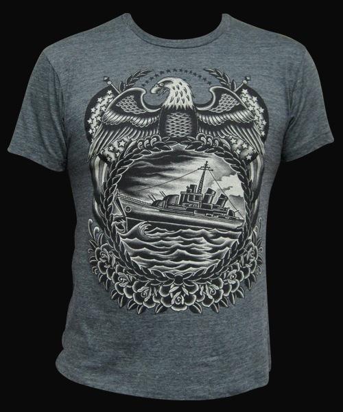 T shirts black market art company tattoo inspired art for Tattooed white trash t shirt